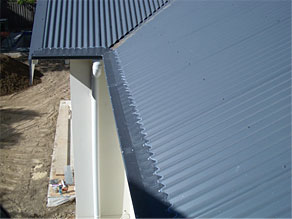gutter guard on corrugated roof