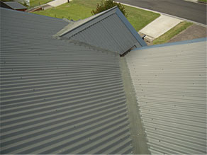 gutter guard on corrugated valley